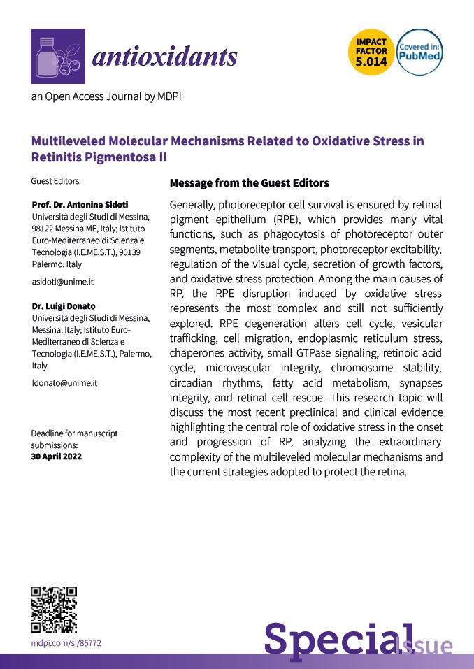 Multileveled Molecular Mechanisms Related to Oxidative Stress in Retinitis Pigmentosa II